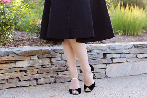 Trashy Diva Candice Gwinn Grace Coat Dress in Black Chelsea Crew Lonny Heel in Black