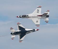 U.S. Air Force Thunderbirds--Opposing Knife Edge Pass