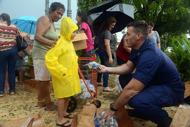 Coast Guardsmen deliver FEMA supplies to Hurricane Maria-affected areas of Puerto Rico