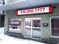 Massage parlor in Longueuil, Quebec, Canada.
