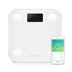 YUNMAI HaoQing Mini Smart Weighing Scale Digital Body Fat Electronic Balance Support Android And IOS Bluetooth (1016372) #Banggood