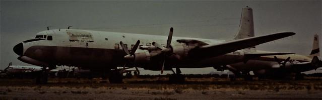 T&G DOUGLAS DC7C N3775U CHANDLER MEMORIAL ARIZONA 1980,s