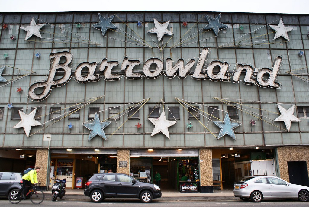 Barrowland : Salle de concerts et enseigne magnifique à Glasgow (East End).