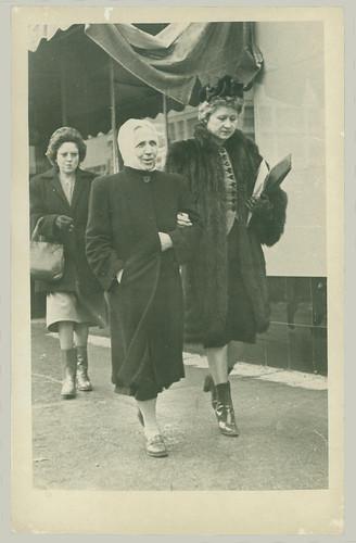 Two Women on sidewalk