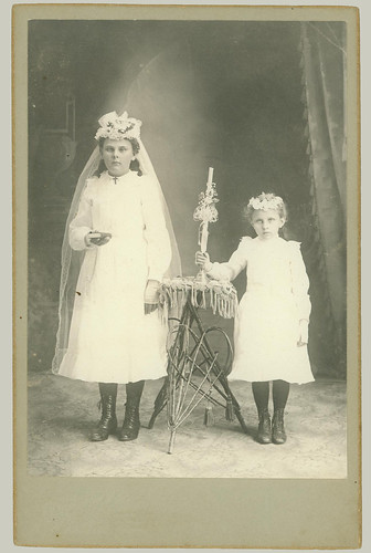 Cabinet Card, two children