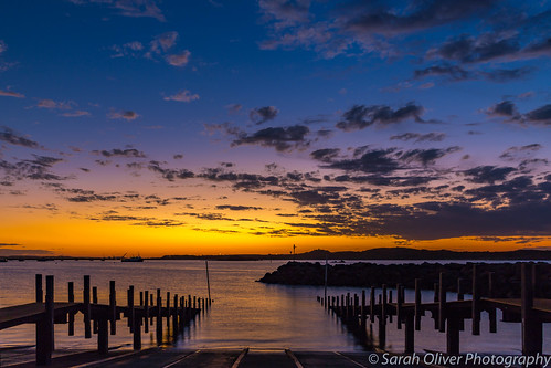 Sunset at Dampier Jetty