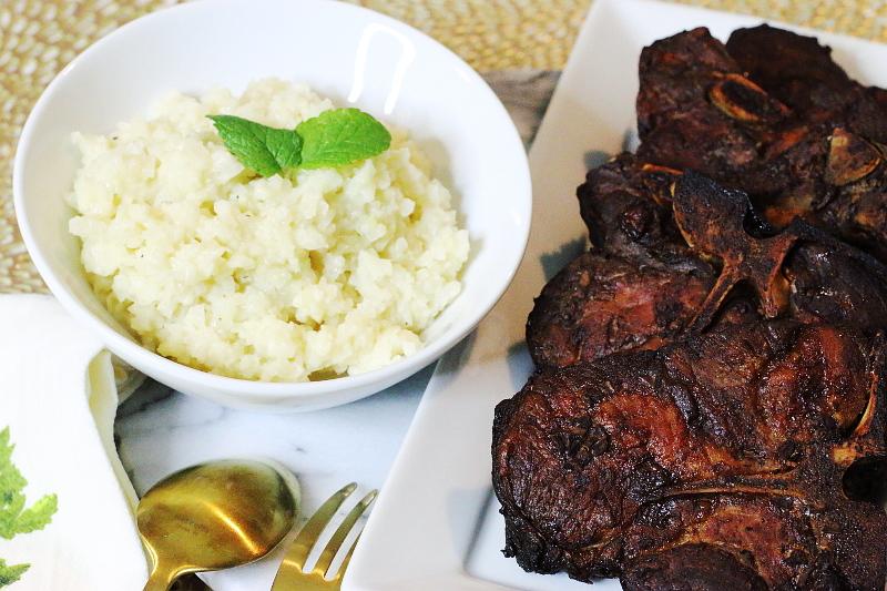 baked-broiled-pork-chops-cauliflower-rice-2