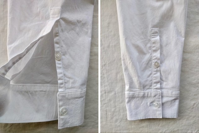 Shirt cuff and placket.