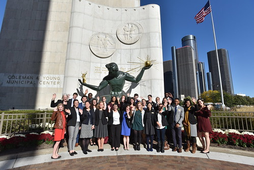 2017 Detroit career exploration trip and reception