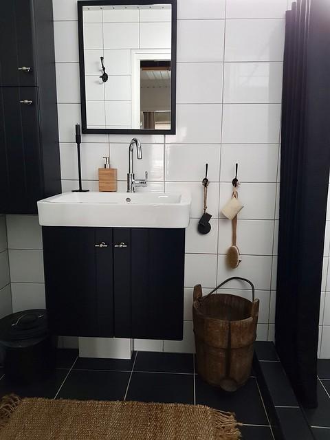 Badkamermeubel zwart landelijk