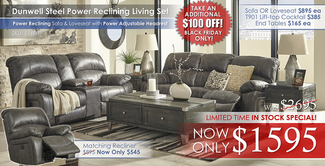 Dunwell Power Reclining Set 51601_LimitedTimeSpecial