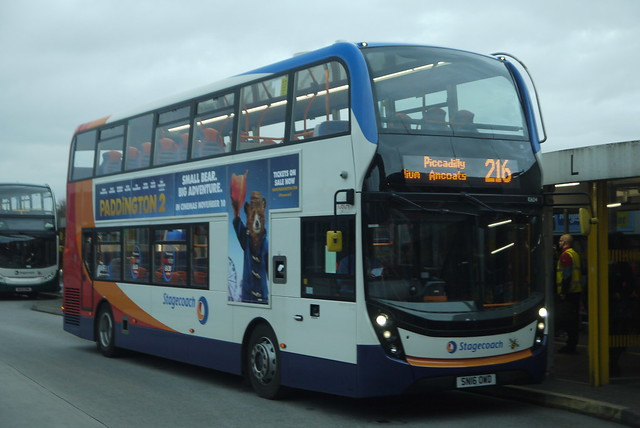 Stagecoach Manchester Enviro400 MMC, SN16 OWD, Ashton-under-Lyne bus station