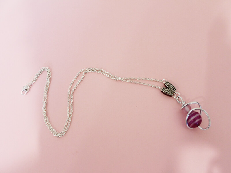 pendant with accent beads
