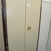 Six by three steel door cabinet with shelves E130
