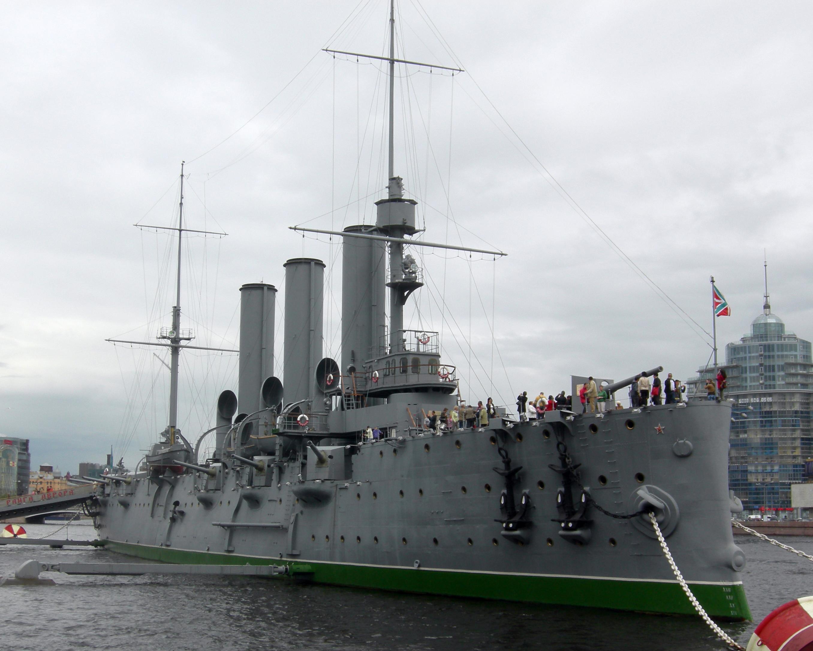 The cruiser Aurora in Saint Petersburg, Russia. Photo taken on June 16, 2009.