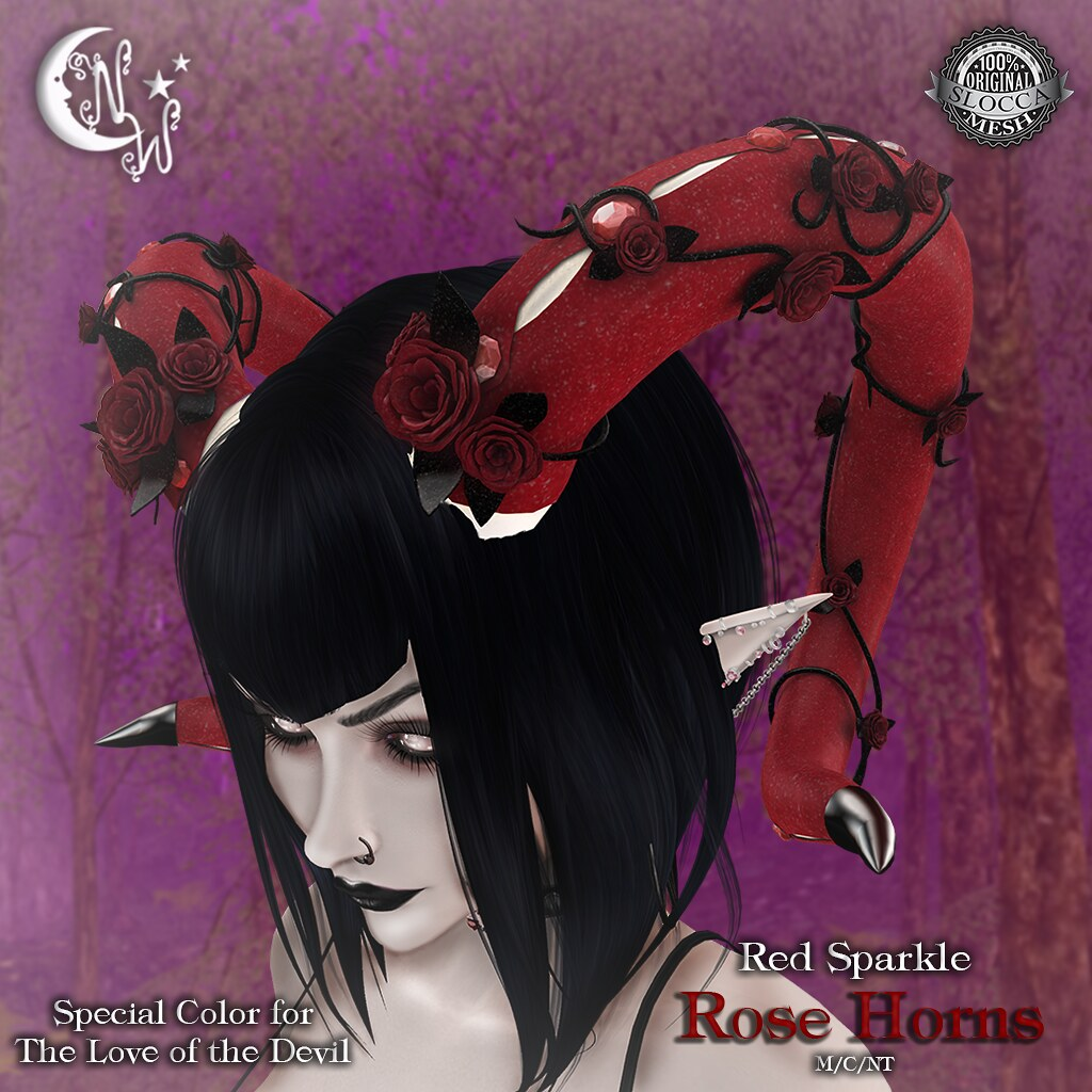 *NW* Rose Horns - Sparkle for the Devil - TeleportHub.com Live!