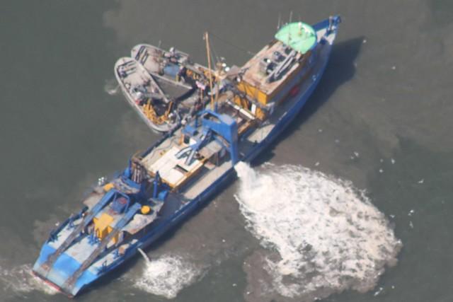 Menhaden Factory boat Louisiana