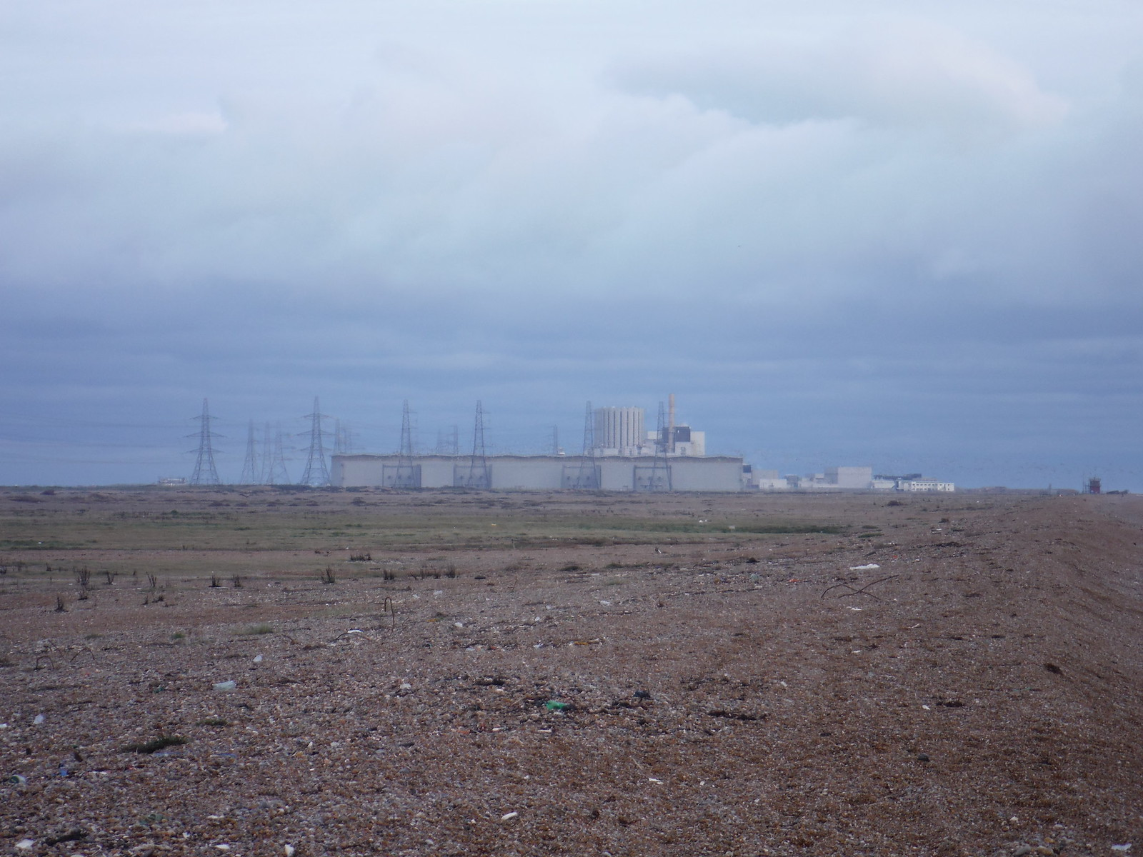 Dungeness Nuke Plant in the Distance SWC 154 - Rye to Dungeness and Lydd-on-Sea or Lydd or Circular