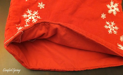 Sew 3 sides and leave the 4th open to insert pillow form or stuffing