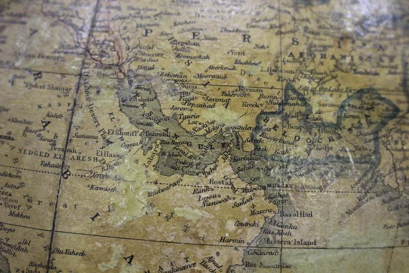 Globe terrestre, Malby & Co, 1848 - Foire du Livre de Charjah