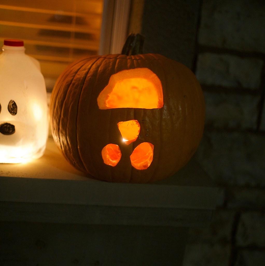 upside down pumpkin