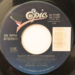 MICHAEL JACKSON:BLACK OR WHITE(LABEL SIDE-B)