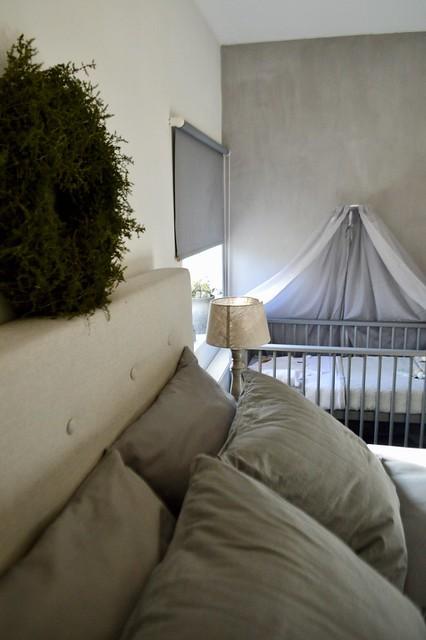 Slaapkamer ledikantje grijswit landelijk