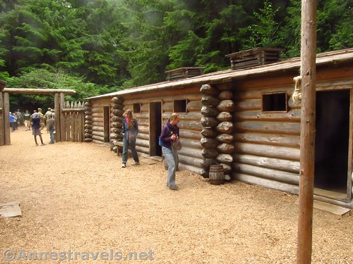 Wandering the interior of the fort. Watch your head on those low doorways! Fort Clatsop in Lewis & Clark National Historical Park, Oregon