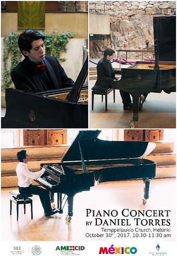 Recital de pianista mexicano en la Iglesia de Piedra de Helsinki