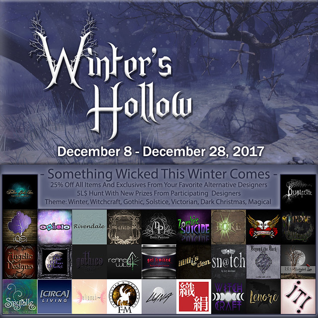 Winter's Hollow Event AD - 2017 Designers