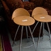 Chrome beech stool E25