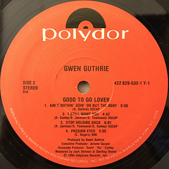 GWEN GUTHRIE:GOOD TO GO LOVER(LABEL SIDE-B)