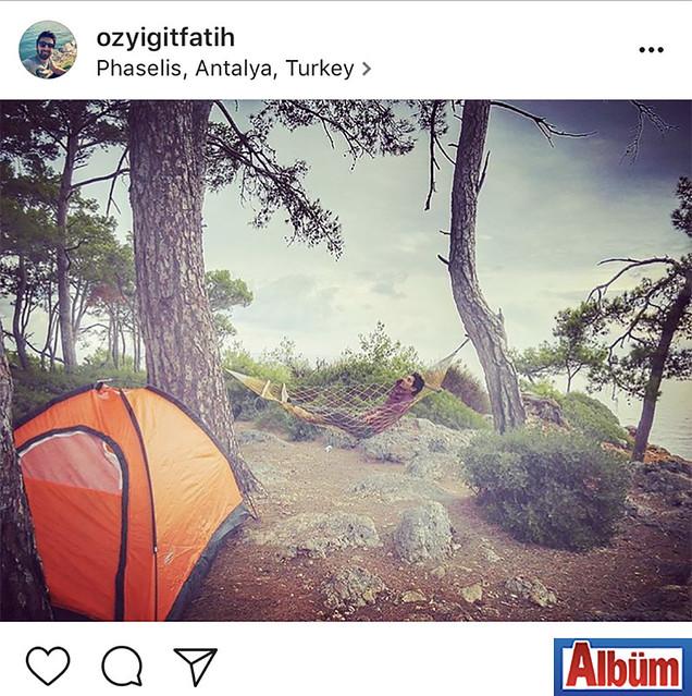 Bahçeşehir Alanya Koleji öğretmenlerinden Fatih Özyiğit, hafta sonunda çıktığı kamp ile yorgunluğunu attı.