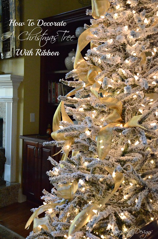 How i decorate my christmas tree with ribbon and another tip How do i decorate my christmas tree with ribbon