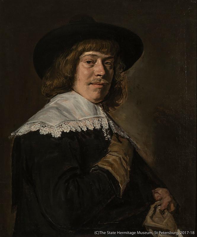 フランス・ハルス《手袋を持つ男の肖像》(1640年頃)エルミタージュ美術館所蔵