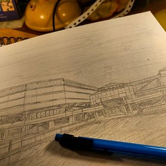 Sketching National Archives, Kew. #drawing #pencils