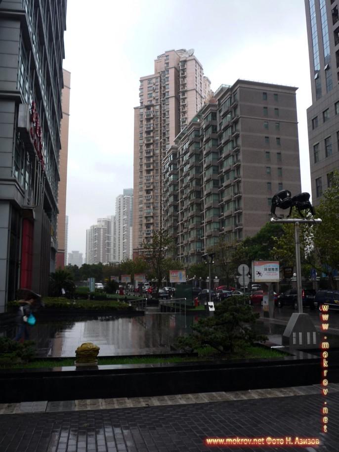 Город Шанхай фотографии сделанные днем и вечером