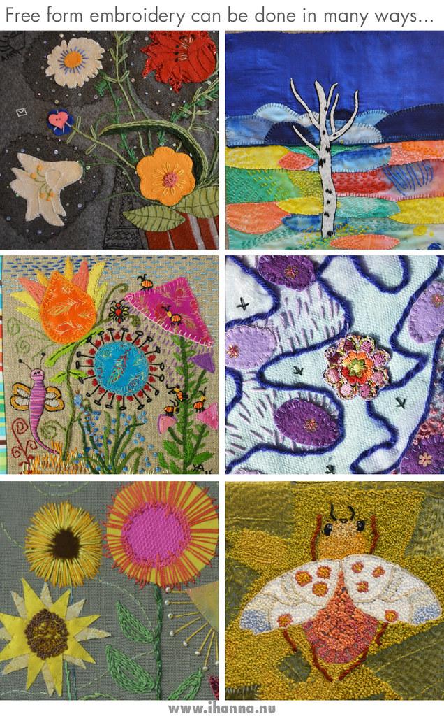 Tokbrodöserna free form embroidery 2017