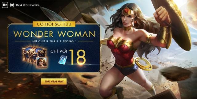 Cơ hội sở hữu nữ chiến thần Wonder Woman chỉ với 18 quân huy