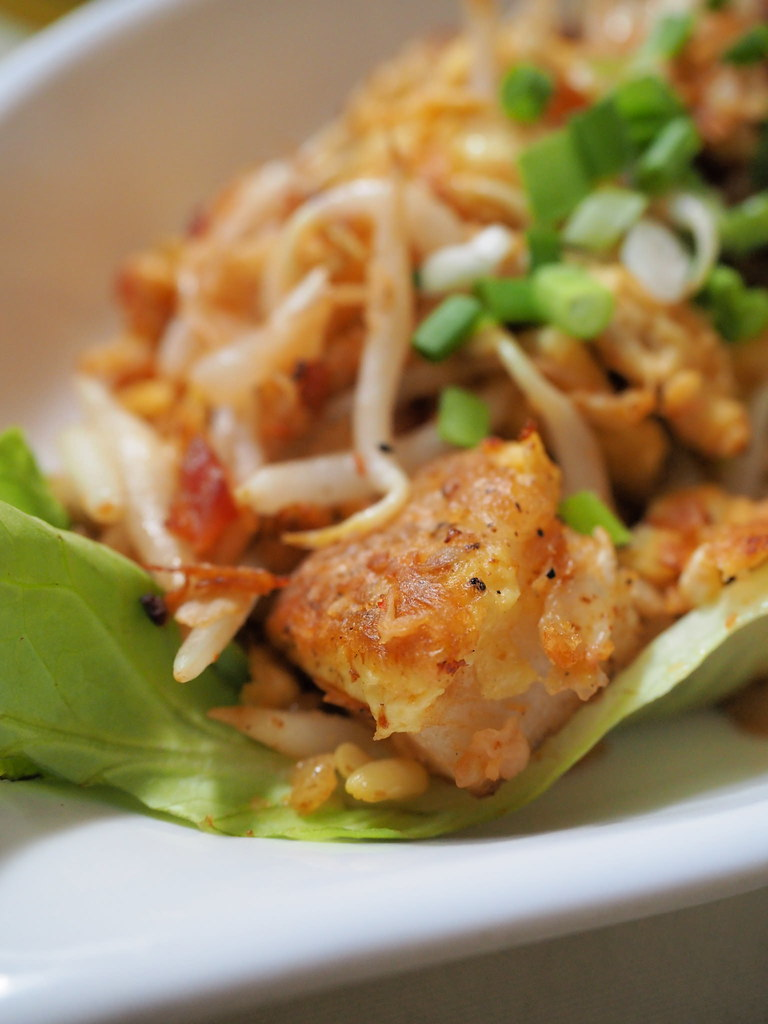 Stir-fried Lo Bak Goo (carrot / turnip cake). Got eggs, preserved radish, bean sprouts, garlic and Chinese chives