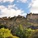 Edinburgh, Blick auf Edinburgh Castle von Princess Street Gardens