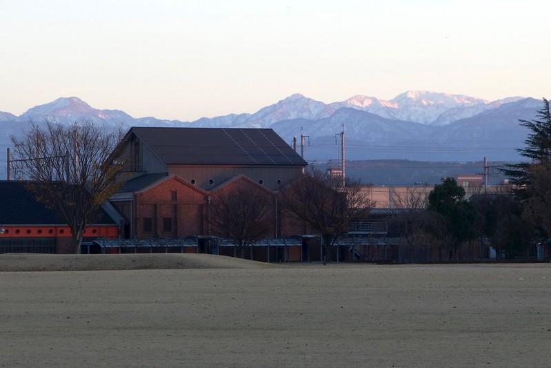 Hakusan from Kanazawa Civic Art Village