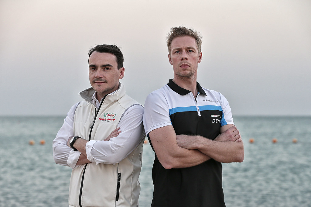 MICHELISZ Norbert, (hun), Honda Civic team Castrol Honda WTC, ambiance portrait, BJORK Thed, (swe), Volvo S60 Polestar team Polestar Cyan Racing, ambiance portrait during the 2017 FIA WTCC World Touring Car Championship race at Losail  from November 29 to december 01, Qatar - Photo Jean Michel Le Meur / DPPI