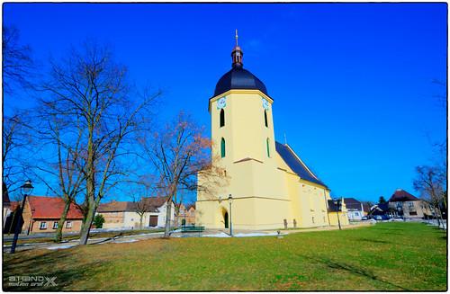 Lausitz - Dorfkirche  von Schleife