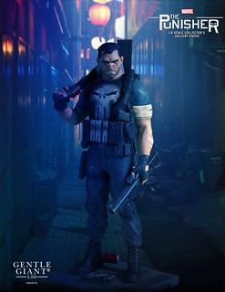 惡棍們小心啦~ Gentle Giant Collectors Gallery 系列 Marvel【制裁者】The Punisher 1/8 比例全身雕像作品
