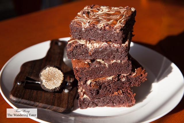 Tahini black truffle brownies