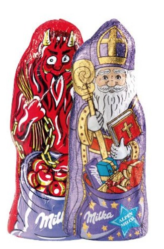 Krampus og Julemands chokolade