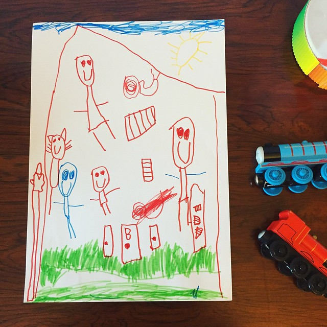 Milo's drawing and writing