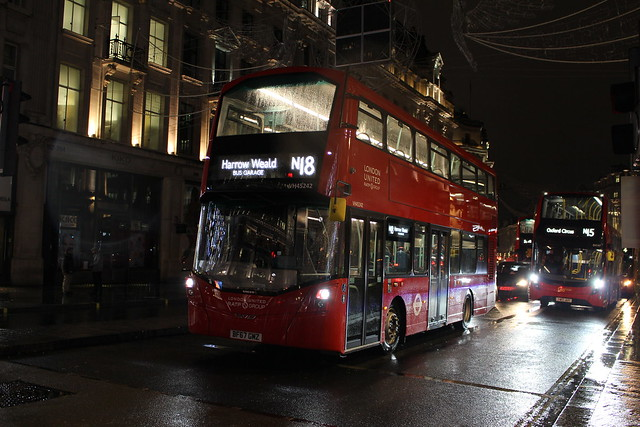 London United VH45242 on Route N18, Oxford Circus