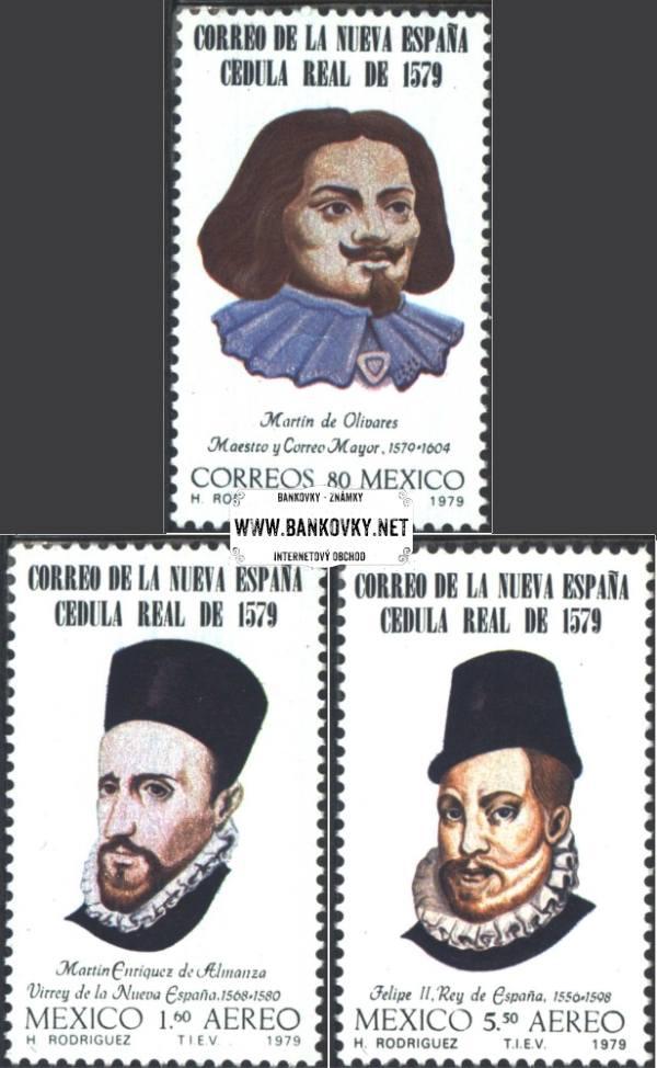 Známky Mexiko 1979 400 rokov pošty, nerazítkovaná séria